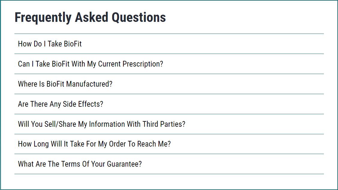 Biofit Probiotic Asked Questions