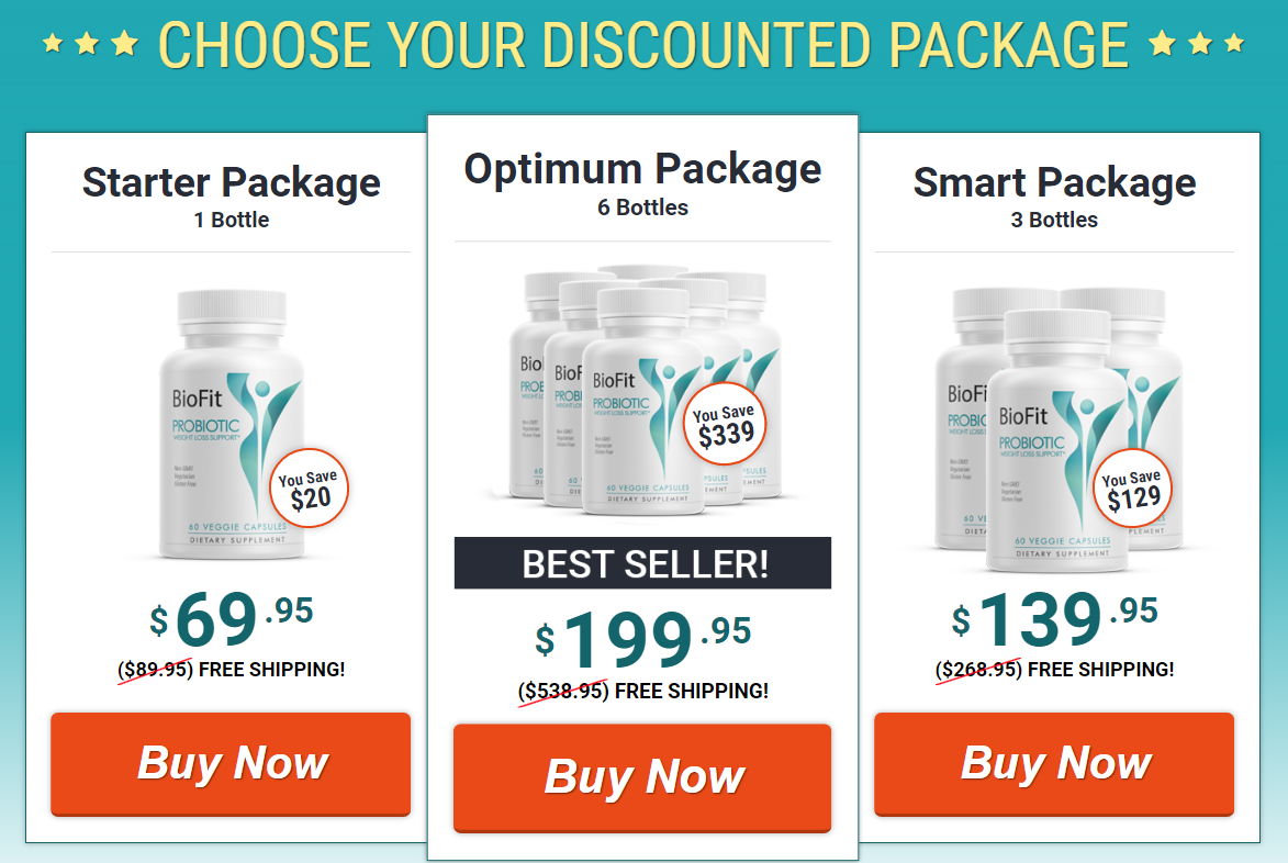 Biofit Probiotic Discount Offer