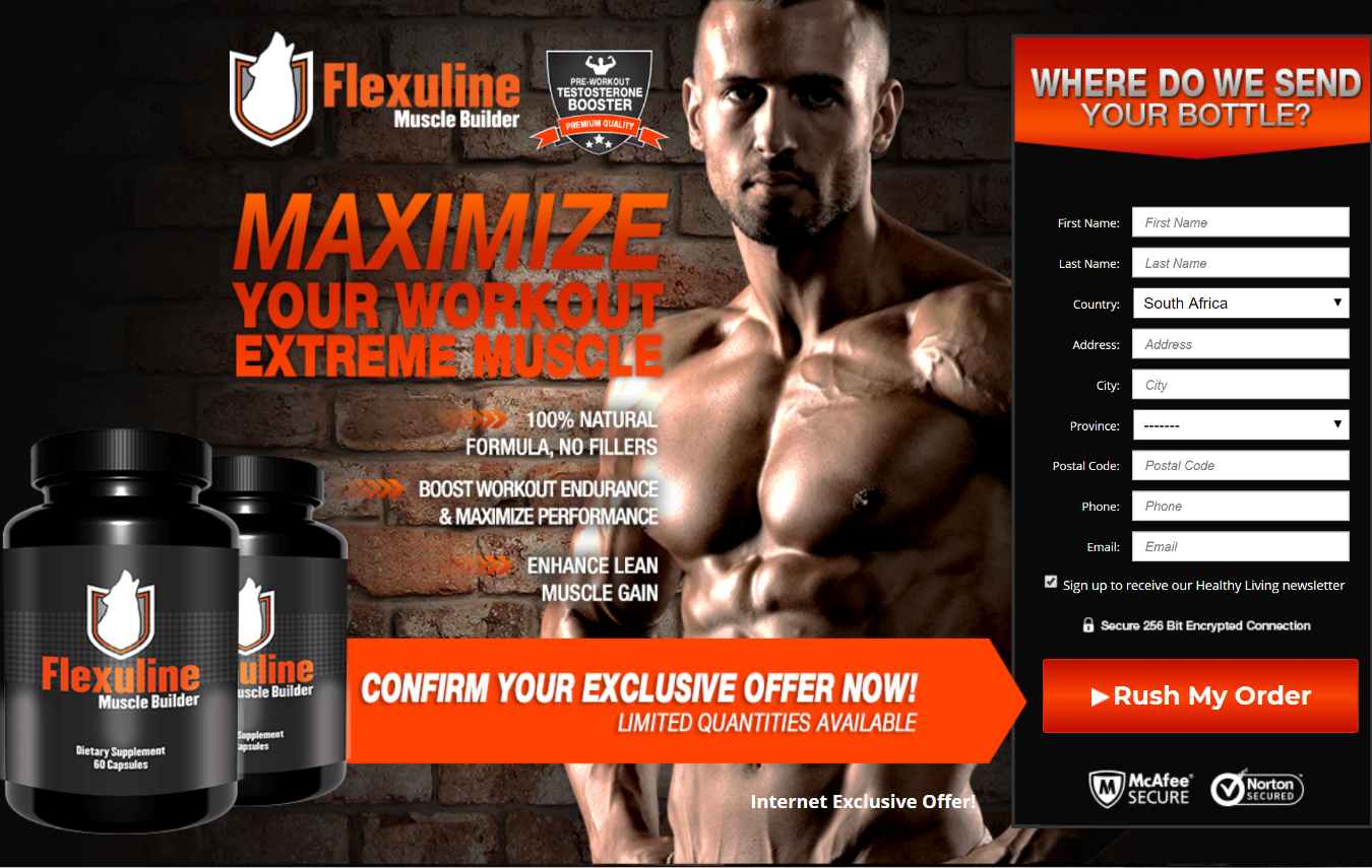 Flexuline Muscle Builder Pills